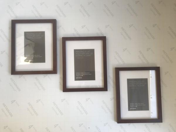 Small dark wood desktop frames
