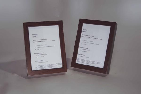 Small wooden desktop frames