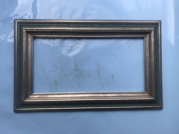 Thick silver frame