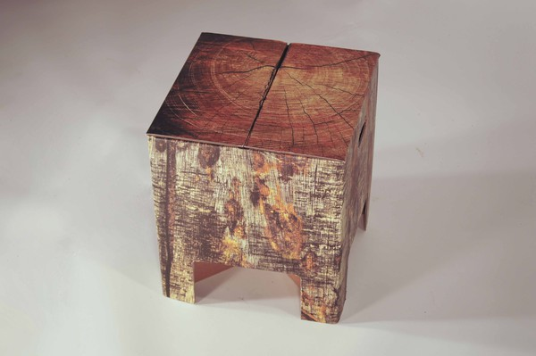 Wood patten card stools