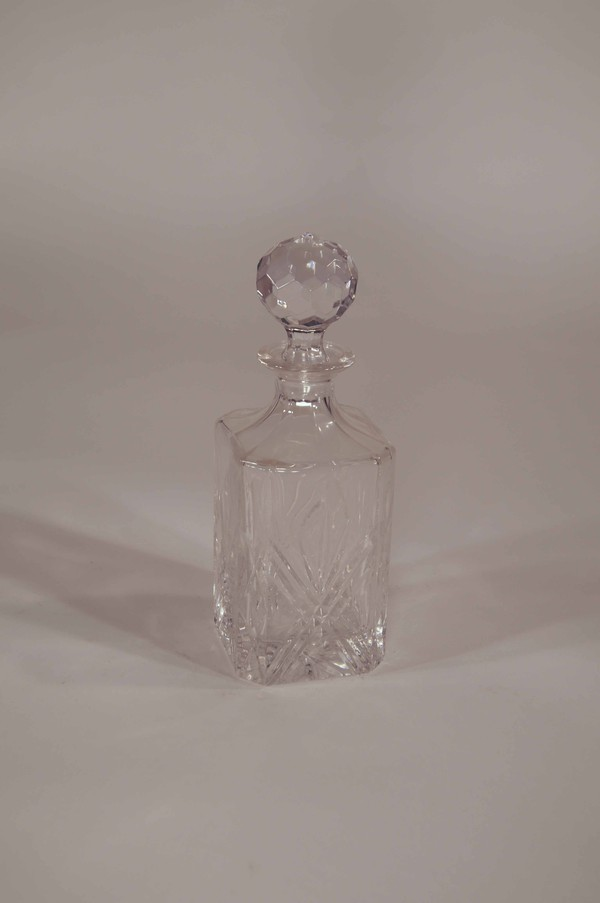 Large heavy decanter