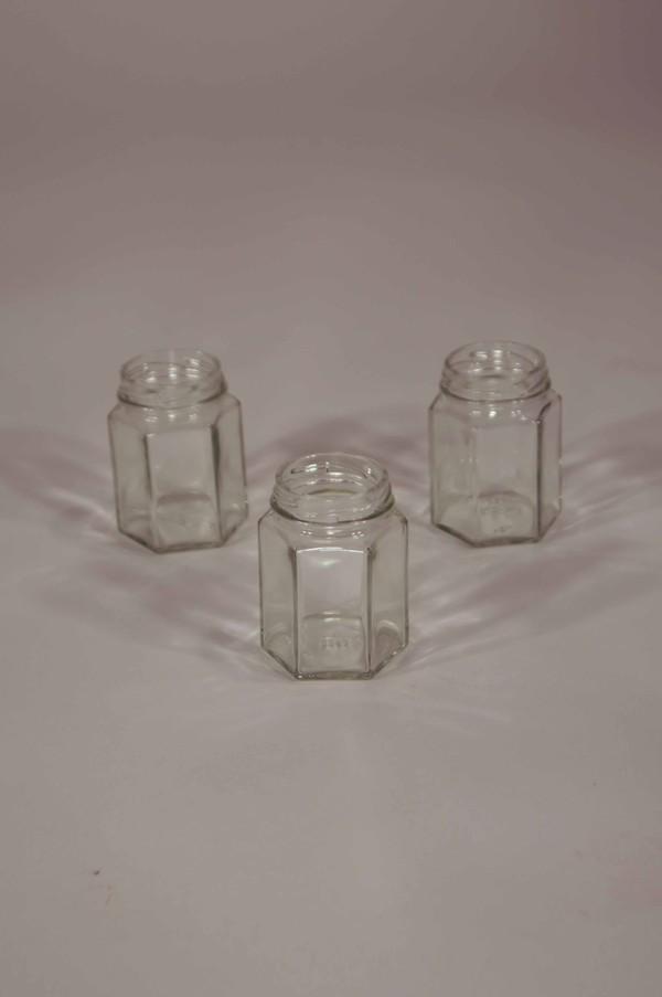 Small Hexagonal jam jar