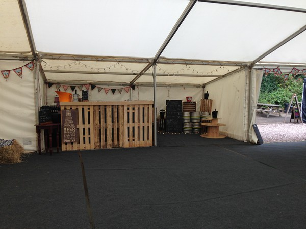 3m x 6m marquee extension / Bar extension