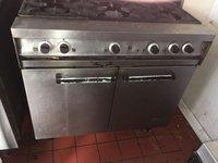 Six burner gas oven