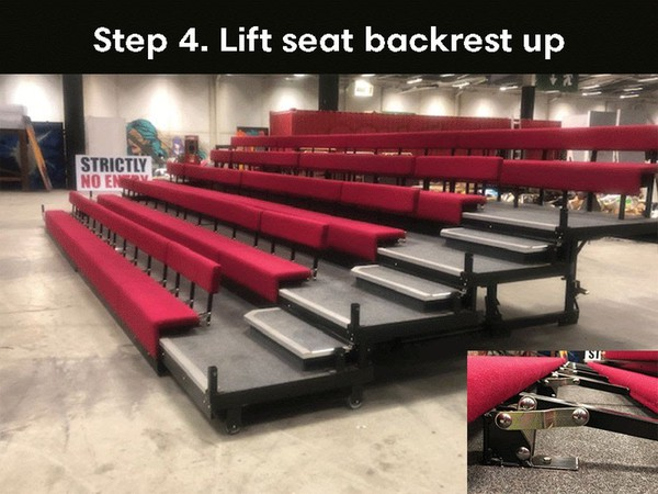 Re locatable theatre seating