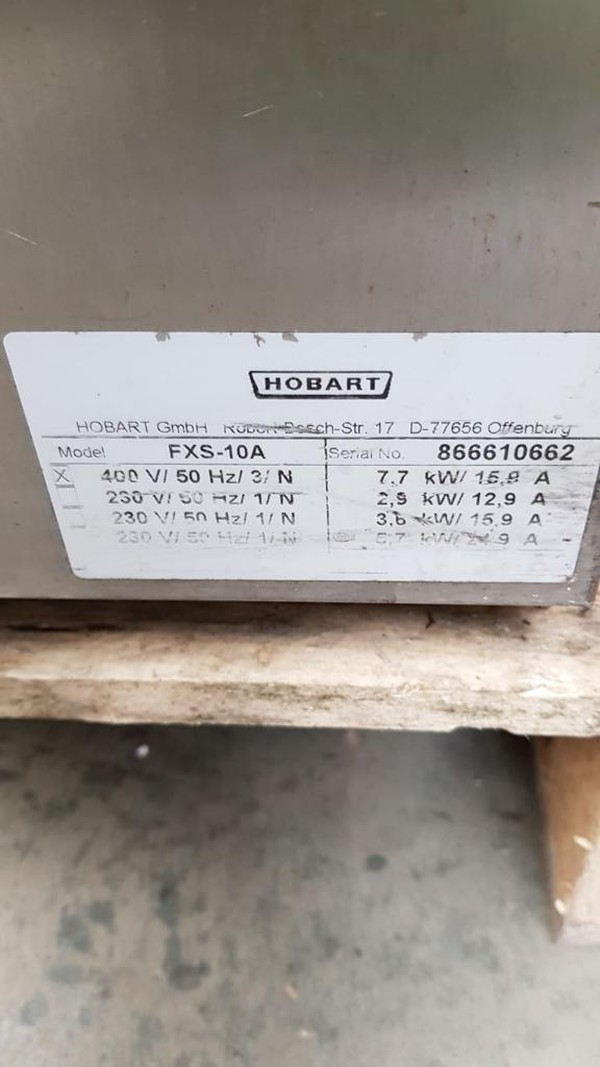 Used Hobart Undercounter Dishwasher