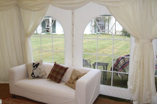 Ivory Window drapes (in pairs) for a 2.4m leg