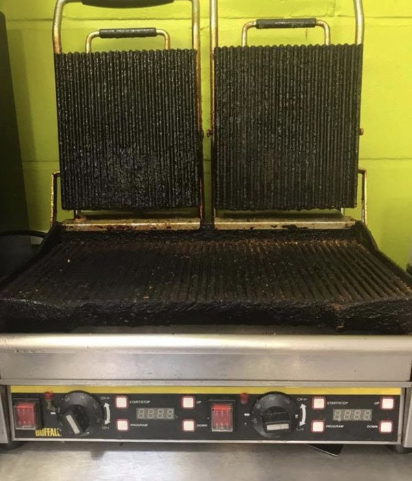 Buffalo double panini grill