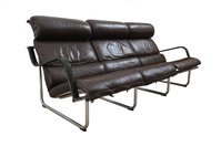 Avarte Remmi leather sofa on stainless steel frames