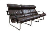 Avarte Remmi leather sofa on stainless steel frames