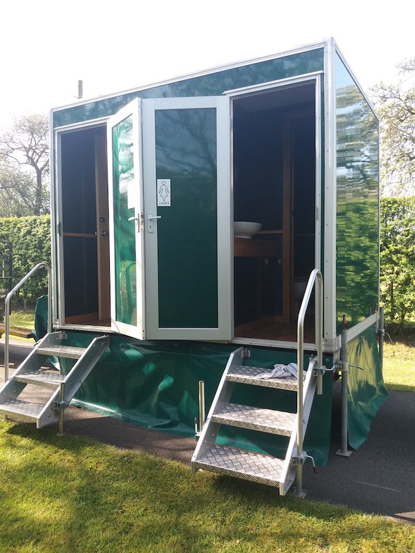 1+1 Self contained Toilet trailer