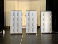 Lockers for School or Office Stage Set, Theatre Prop.