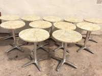Onyx marble out door cafe tables