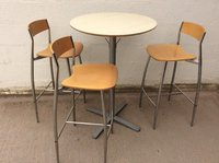 High bar table and stools