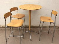 High bar table with three chairs