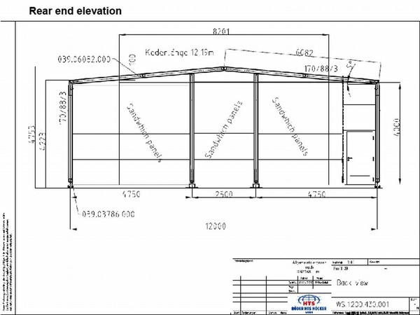 Second hand 12M x 15M Roder HTS Temporary Building