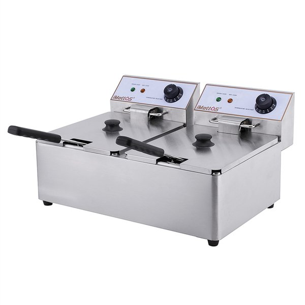 Small twin tank electric fryer