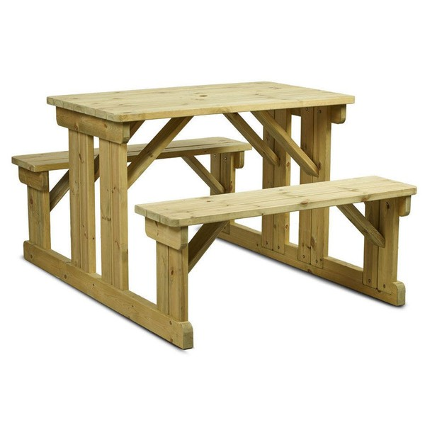 6 Seater Wooden Picnic Table