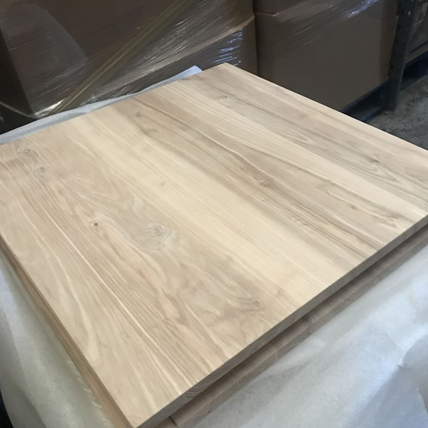 70x70cm Square Solid Ash Table Tops RAW 25mm thick