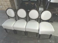 White leather restaurant chairs
