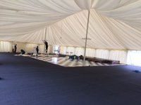 Large traditional marquee with floor and lining