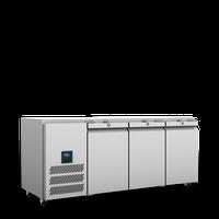 HJBTC3SA Williams 3 Door Jade Biscuit Top Counter Refrigerator