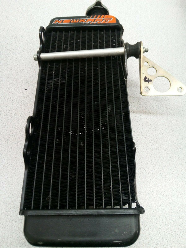Kart Rotax Max Black Radiator And Fittings