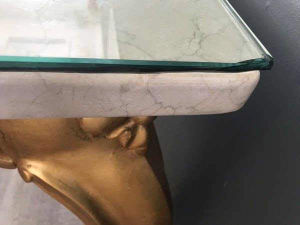 Marble and glass table
