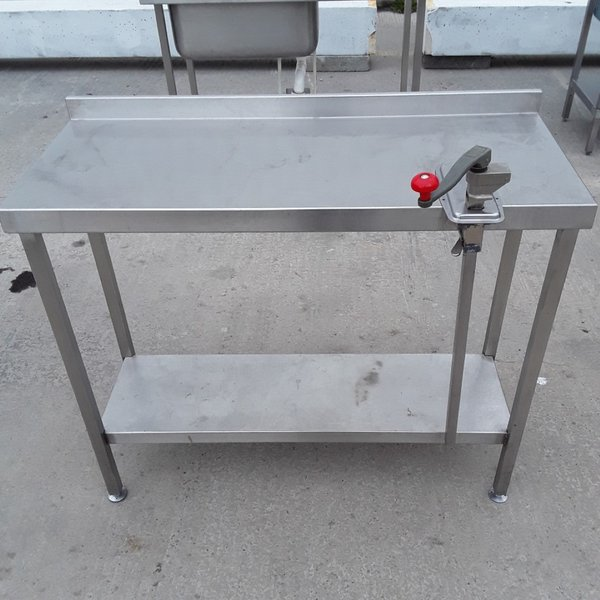 1.1m stainless steel kitchen table / bench