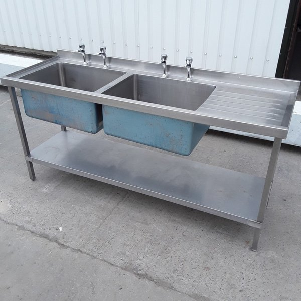deep catering sink with right hand drainer
