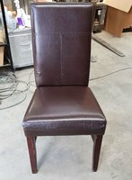 Tall backed leather dining chairs