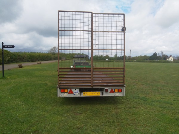 Ifor Williams trailer with rear ramp