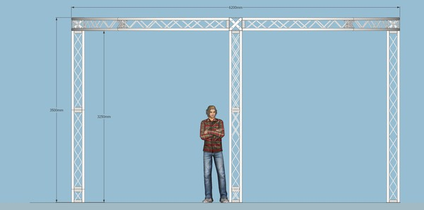 Truss for exhibition stands