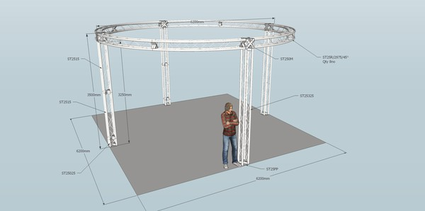 Truss over dance floor
