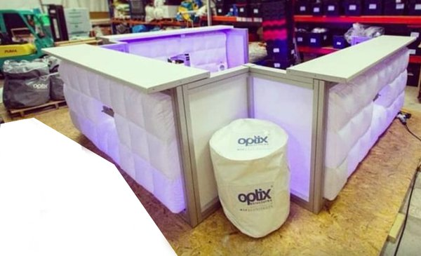 Inflatable mobile bar unit