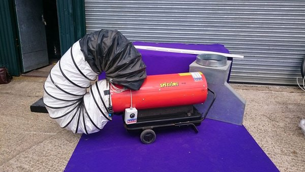 Indirect duel fuel marquee heater