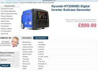 Inverter suitcase generator 3.6Kva