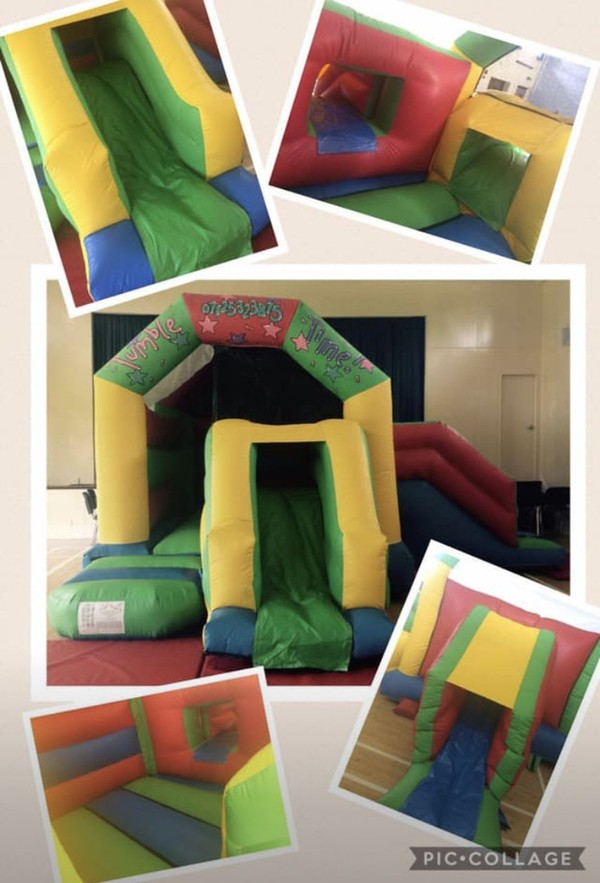 Bouncy castle with sides