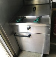 Used Falcon Dominator Model G2860 Double Basket Gas Fryer