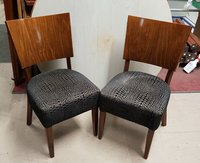 Dining chairs with polished ply backs