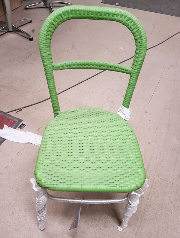 Aluminium frame Rattan chair