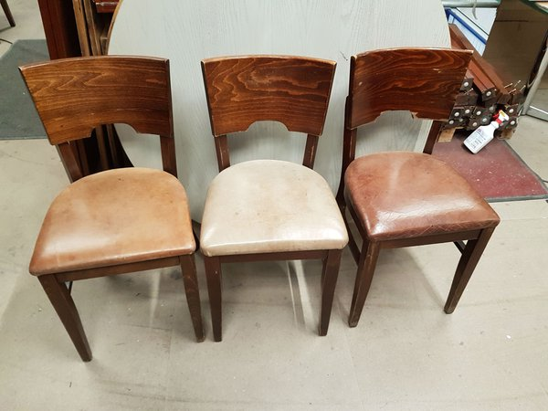 Dining chairs with leather seats