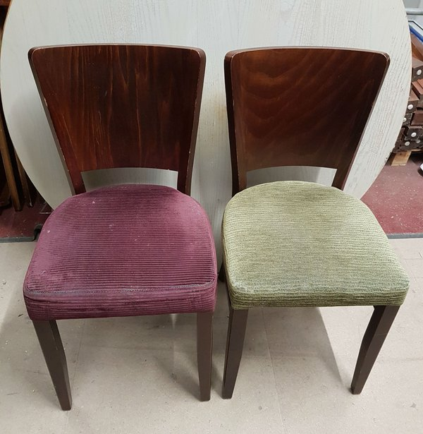Green and Purple dining chairs