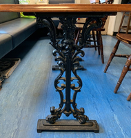 Cast Iron Oak Table  for sale