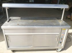 Carvery trolley with heated gantry