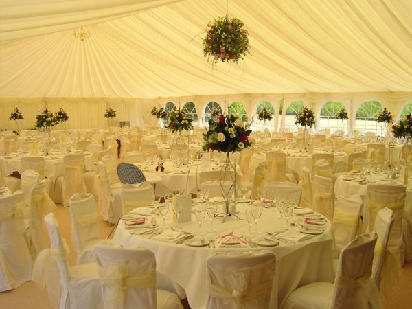 Roder Clearspan Marquees with Custom Covers Lining