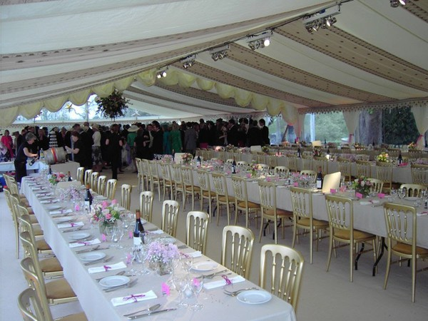 Roder Clearspan Marquees with Custom Covers Lining for sale