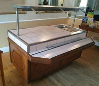 Carvery trolley with tiled top