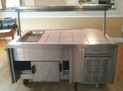 Wheeled carvery counter / trolley