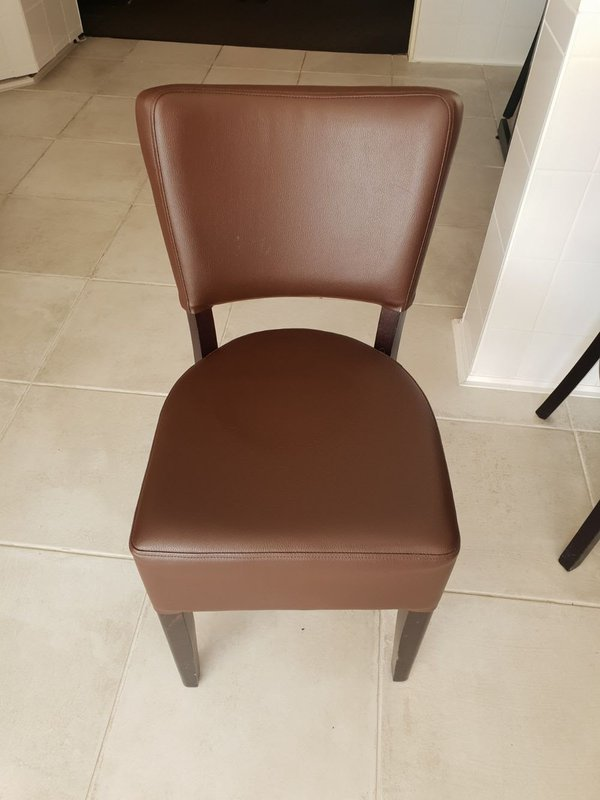Brown Faux Leather Restaurant Chairs